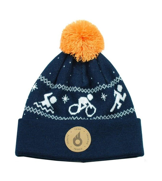 Triboo woolen cap triathlon ( black-navy blue)