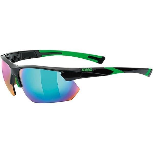 UVEX sportstyle 221 - sunglasses (black and green)